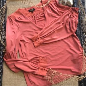 NWOT Juicy Couture Apricot Blouse Size M